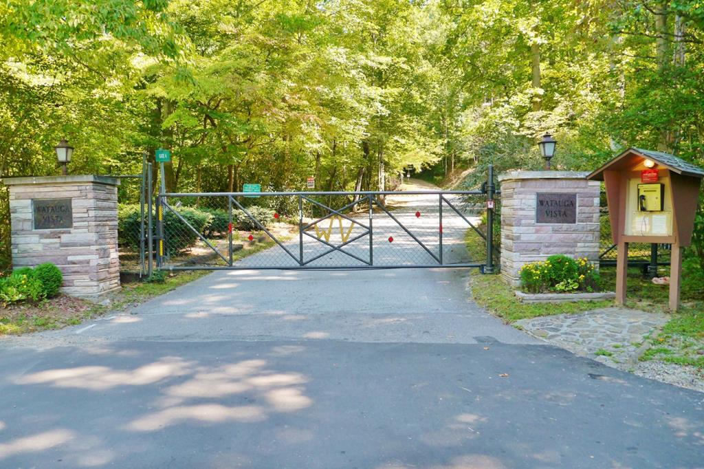 Secure, Gated Watauga Vista Entrance